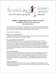 What is sugaring